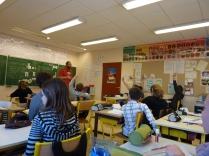 En classe...
