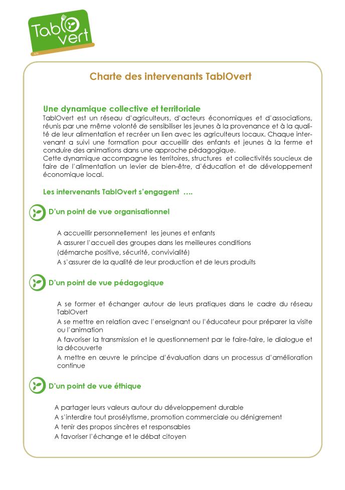 charte des intervenants TablOvert