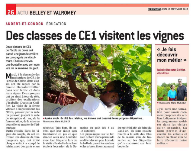 Article Progrès Isabelle Decoster sept 2018.png